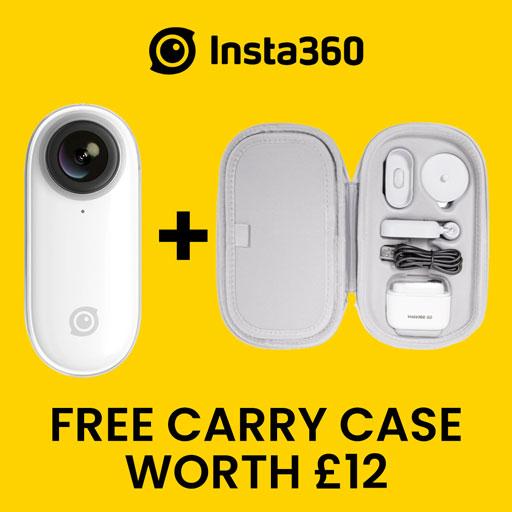 insta360 go promo code free carry case